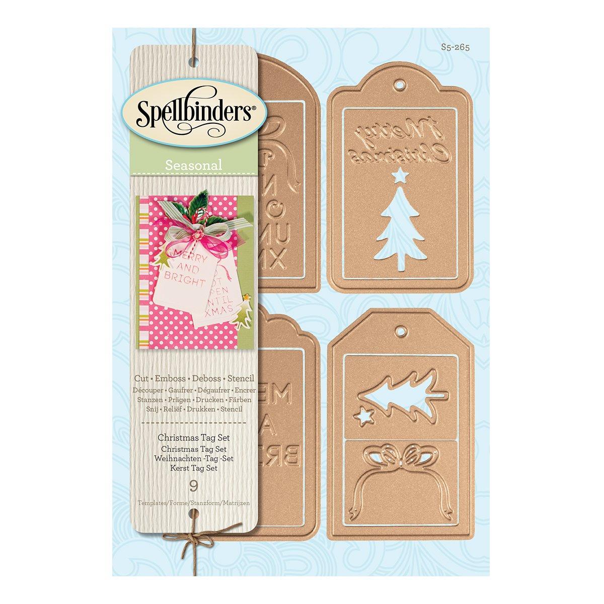 Spellbinders S5-265 Shapeabilities Christmas Tag Die Cuts Set ...