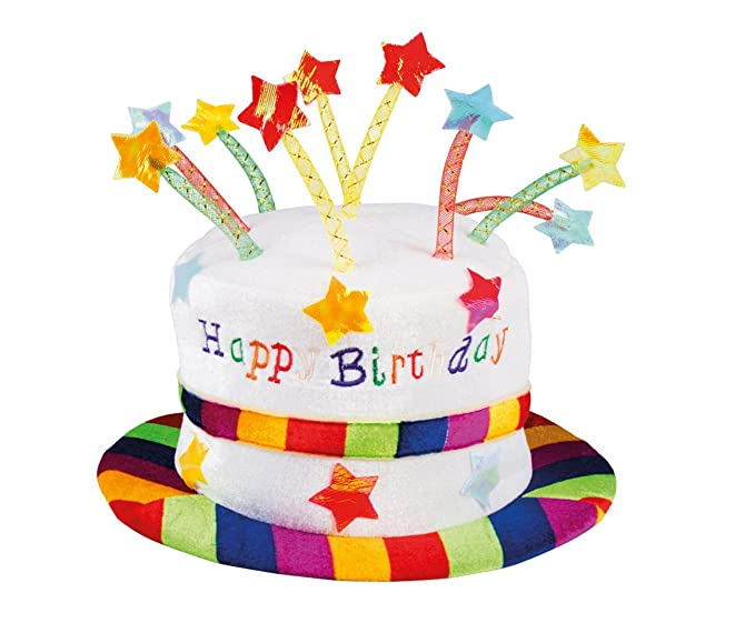 Amazon Adult Happy Birthday Rainbow Cake Hat With Candles Fancy