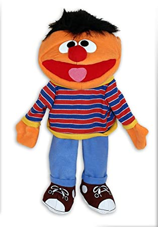 """Figura de Peluche-Marioneta de mano Sesame Street/Barrio Sésamo """"Ernie-"""