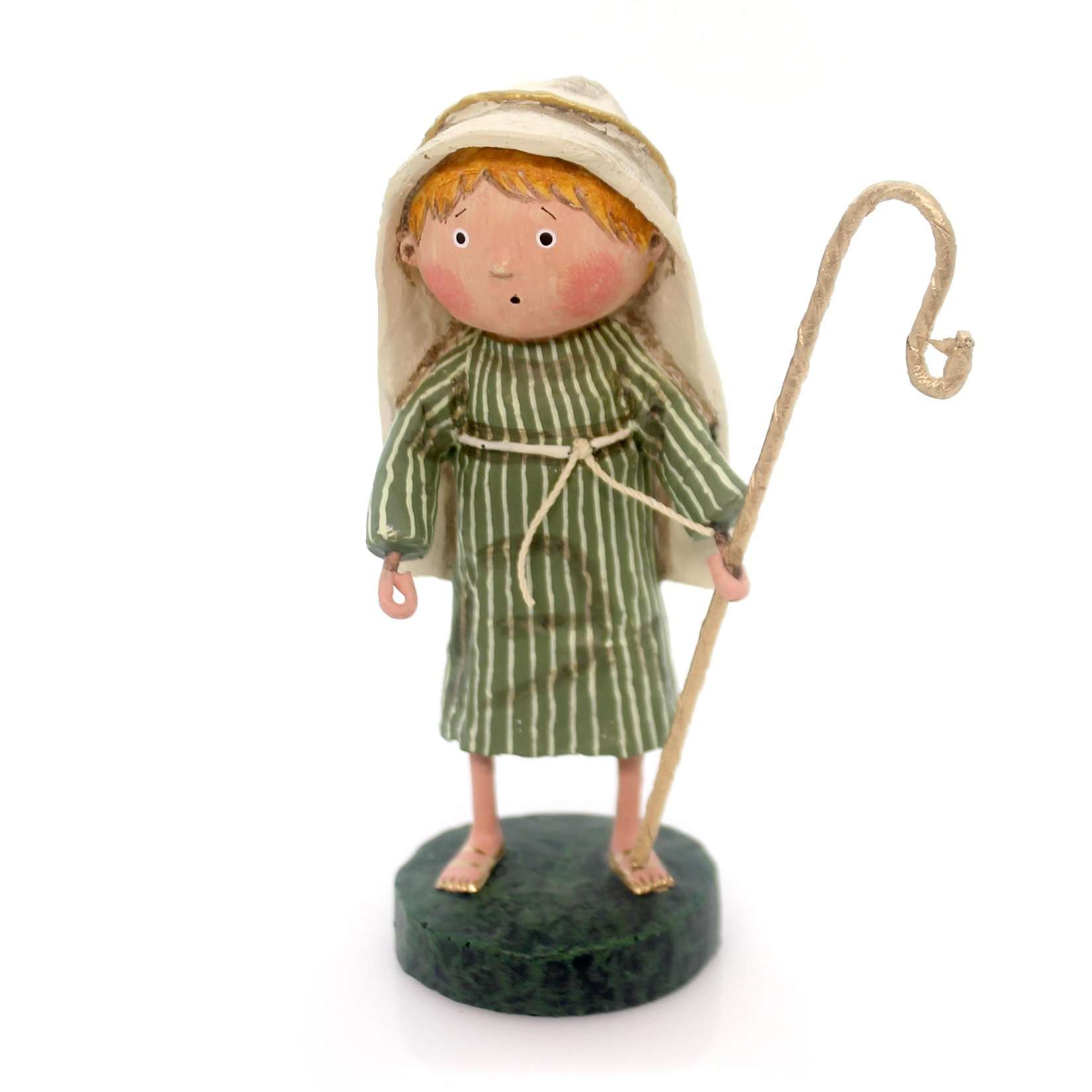 Lori Mitchell LITTLE SHEPHERD BOY Nativity Jesus Sheep Christmas 11013
