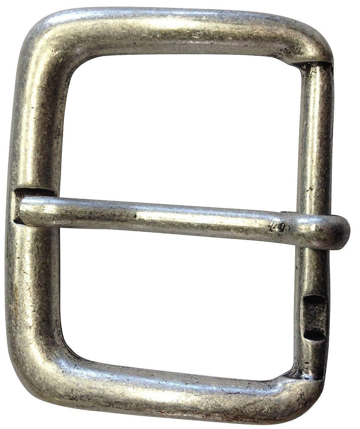 Buckle Wechselschlie/ße G/ürtelschlie/ße 50mm Massiv F/ür Wechselg/ürtel bis zu 5cm Breite Dorn-Schlie/ße Brazil Lederwaren G/ürtelschnalle 5,0 cm
