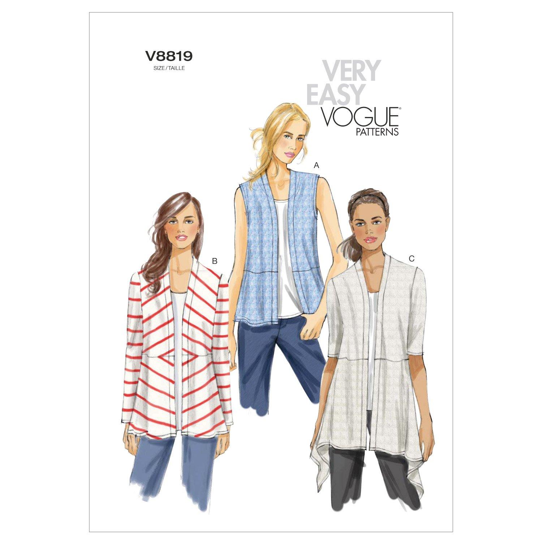 Vogue Patterns V8819 - Patrones de costura para chaquetas de punto ...