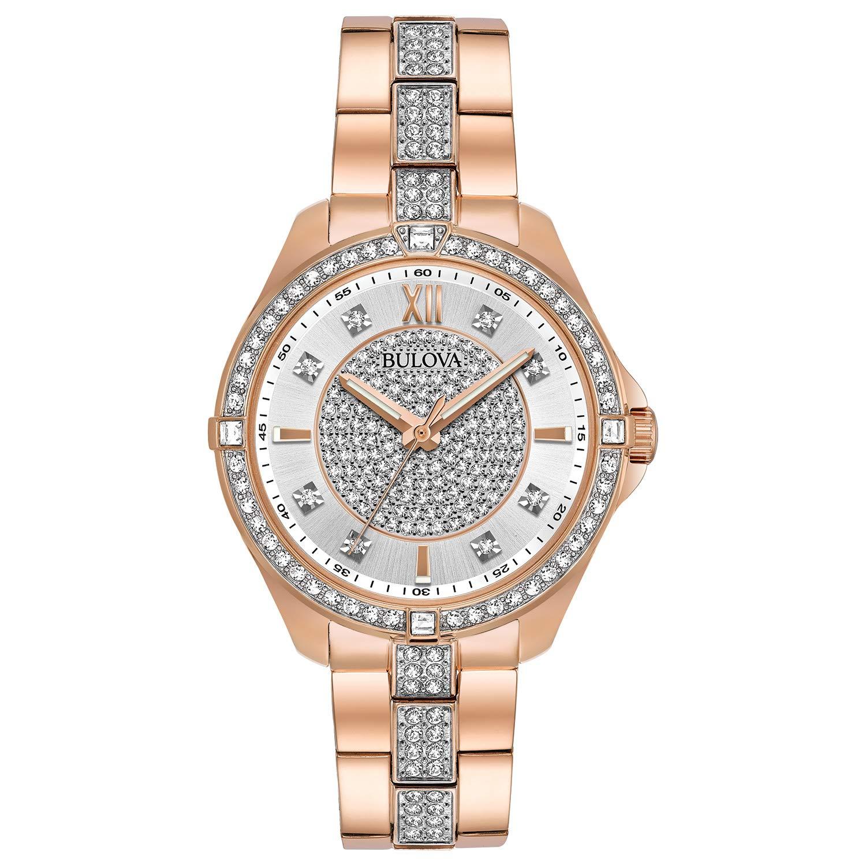 CDM product Bulova Women's Rose Goldtone Crystal Watch big image