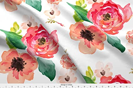 12be3741260 Amazon.com: Shabby Chic Fabric - Shabby Chic Floral Flowers ...