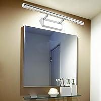 Wilktop 7 W/55 cm spiegellamp LED warm wit spiegellamp badkamer lamp met schakelaar wandlamp wandlamp met aardingsdraad…