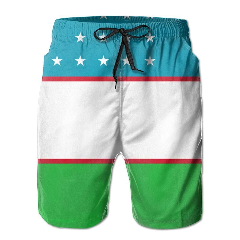 sport outdoor 003 Uzbekistan Flag Quick Dry Boardshorts Beach Shorts Swim Trunks Men Swimsuit