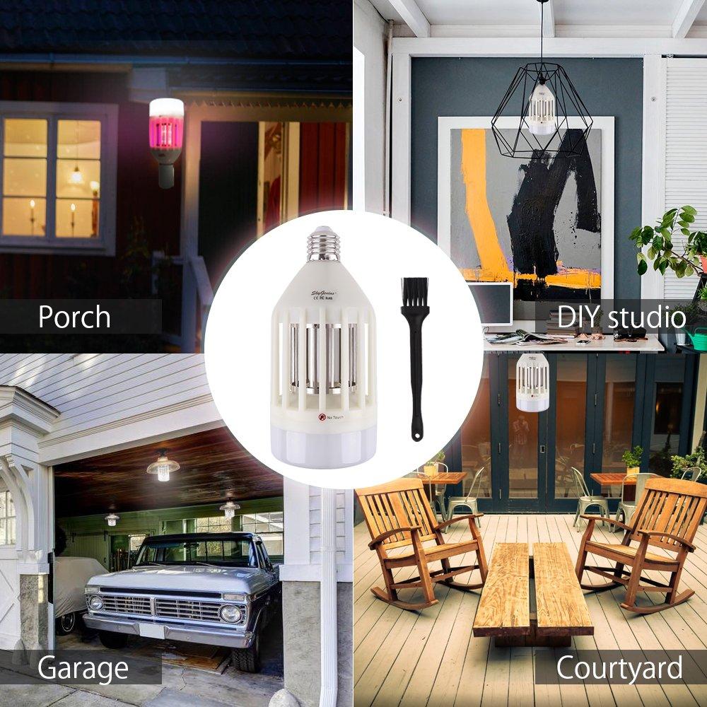 E27 7.5W Insect Mosquito Fly Killer Flies Wasps UV Lamp for Indoor Outdoor Garden Garage SkyGenius Electric Bug Zapper Light Bulb