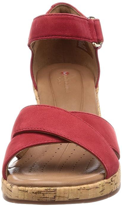 1fc2b9d8fc72a Amazon.com: CLARKS - UN Plaza Cross - 261323274 - Color: Red - Size ...