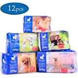 Pet Soft Pet Disposable Puppy Dog Diaper,12Pcs,72Count,XXS--XL