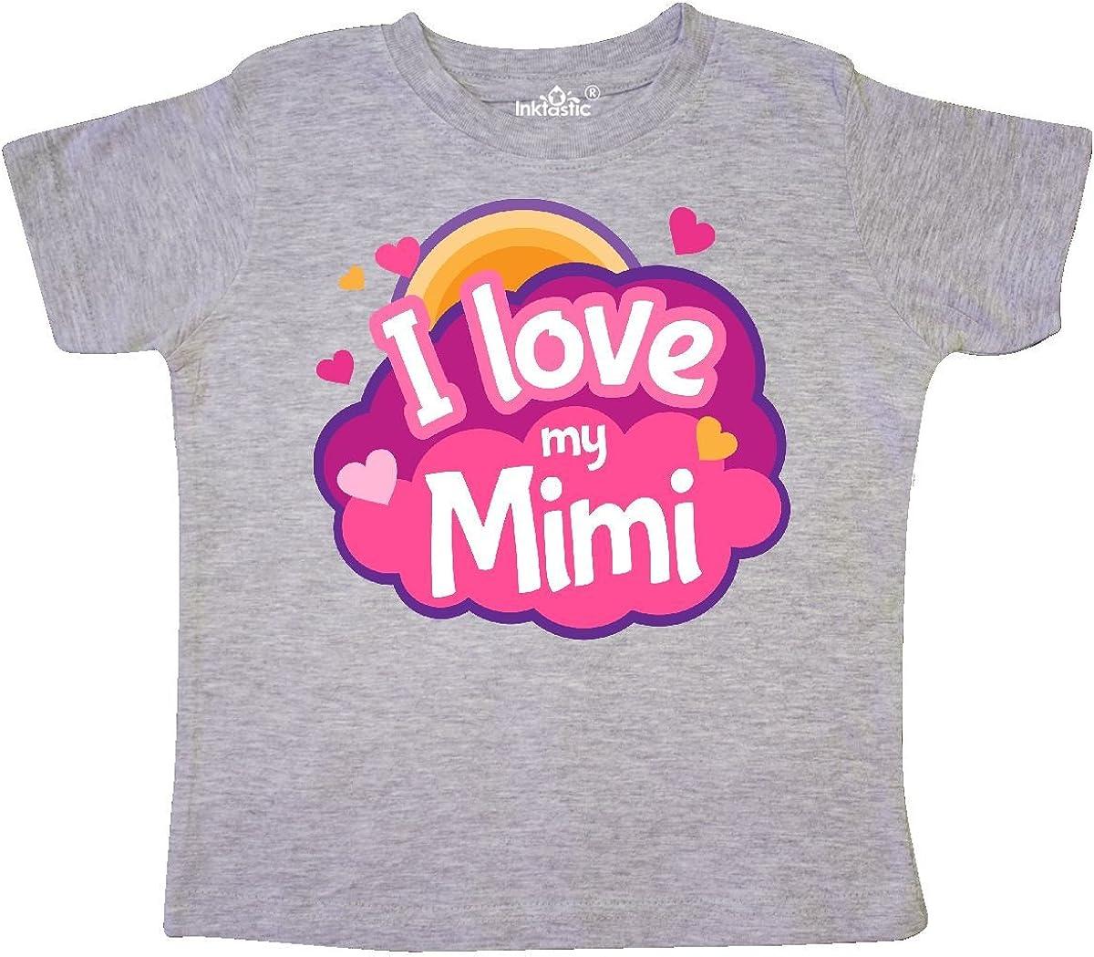 inktastic I Love My Mimi Grandma Toddler T-Shirt