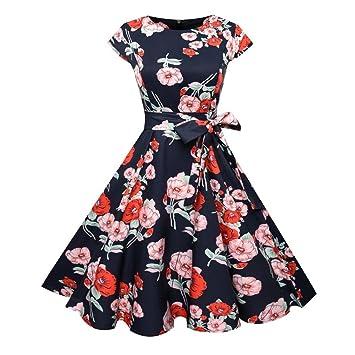Banbian Kleid, Vintage Retro 1950 \'s Audrey Hepburn Kleid – Blumen ...
