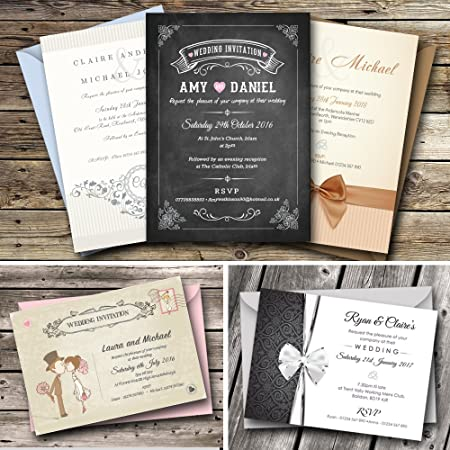 personalised wedding invitations invites day or evening choose