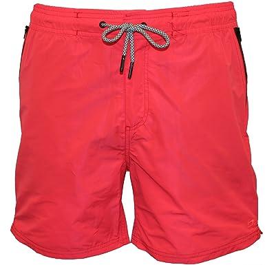 a789da2707 Amazon.com: Scotch & Soda Men's Swim Shorts in Two-Tone Quality Blazing Red  Swimsuit Bottoms: Clothing