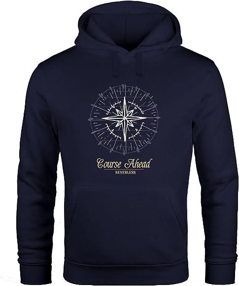 newest 2d766 bfbfe Hoodie Herren Kompass Windrose Navigator Segeln Kapuzenpullover Sweater  Männer