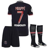 AMD SPORTS Paris Camiseta para niños Neymar/Mbappe Viene con Pantalones Cortos y Calcetines, edición hogar Tallas para…