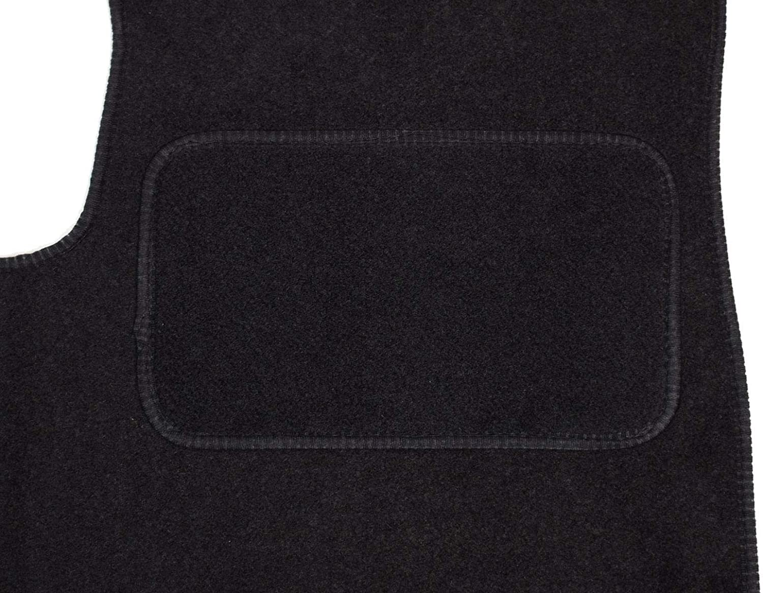 Van Demon Tailored Fit 1pc Front Black 3mm Rubber Floor Mat for Ford Transit Custom
