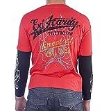 Ed Hardy Kids Long Sleeve Osaka T-Shirt -Red - Small
