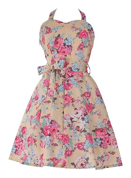 Twist Vintage diseño de flores y lunares para mujer 50s Rockabilly Swing diseño de flores de e instrucciones para hacer vestidos: Amazon.es: Ropa y ...