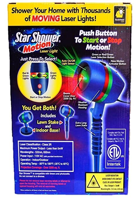 Amazoncom Star Shower As Seen On TV Motion Laser Lights Star - Cost to put in a shower