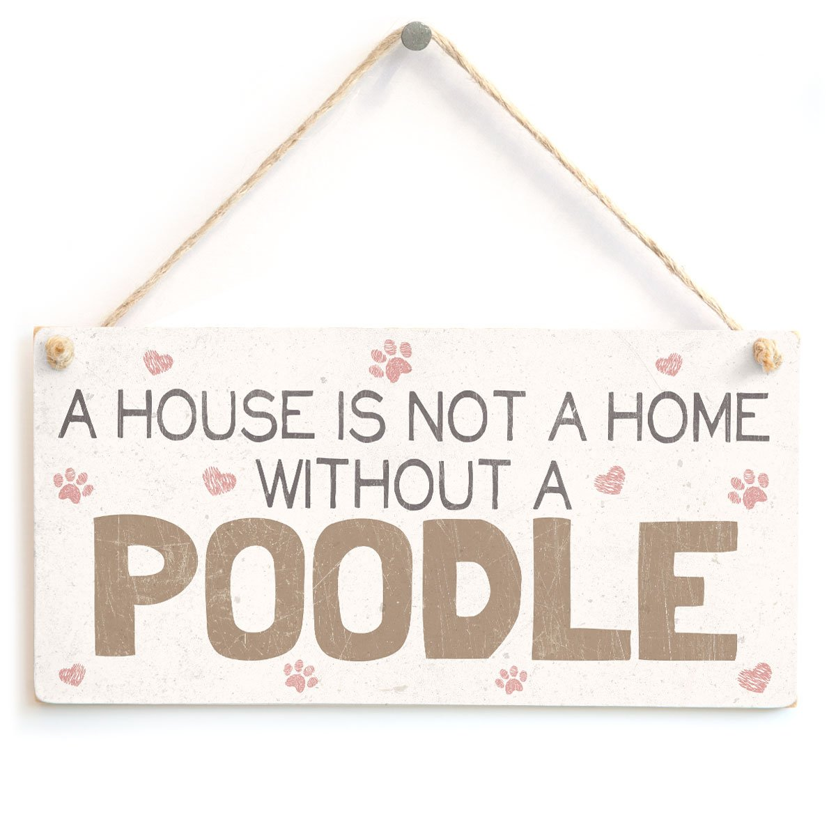 Wood Sign Cocker Spaniel Poodle It/'s Not A Home Without A COCKAPOO Dogs