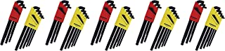"product image for Bondhus 20599 0.050-3/8"" & 1.5-10mm Stubby Ball End Hex Key DoublePK (Fivе Расk)"