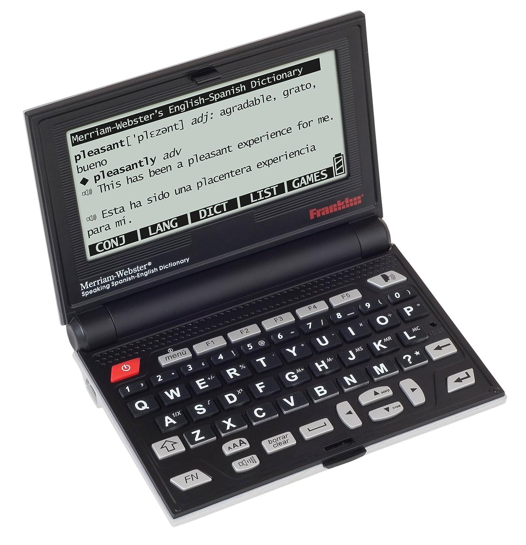 Franklin BES2100 Merriam Webster - Traductor electrónico de inglés a español con diccionario