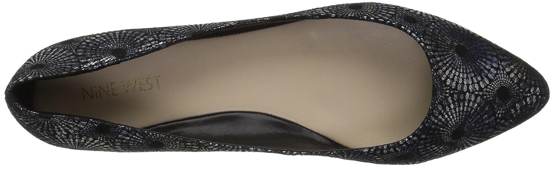Nine West Women's Speakup Leather Pointed Toe Flat B071DFGWXQ 9.5 B(M) US Black/Multi