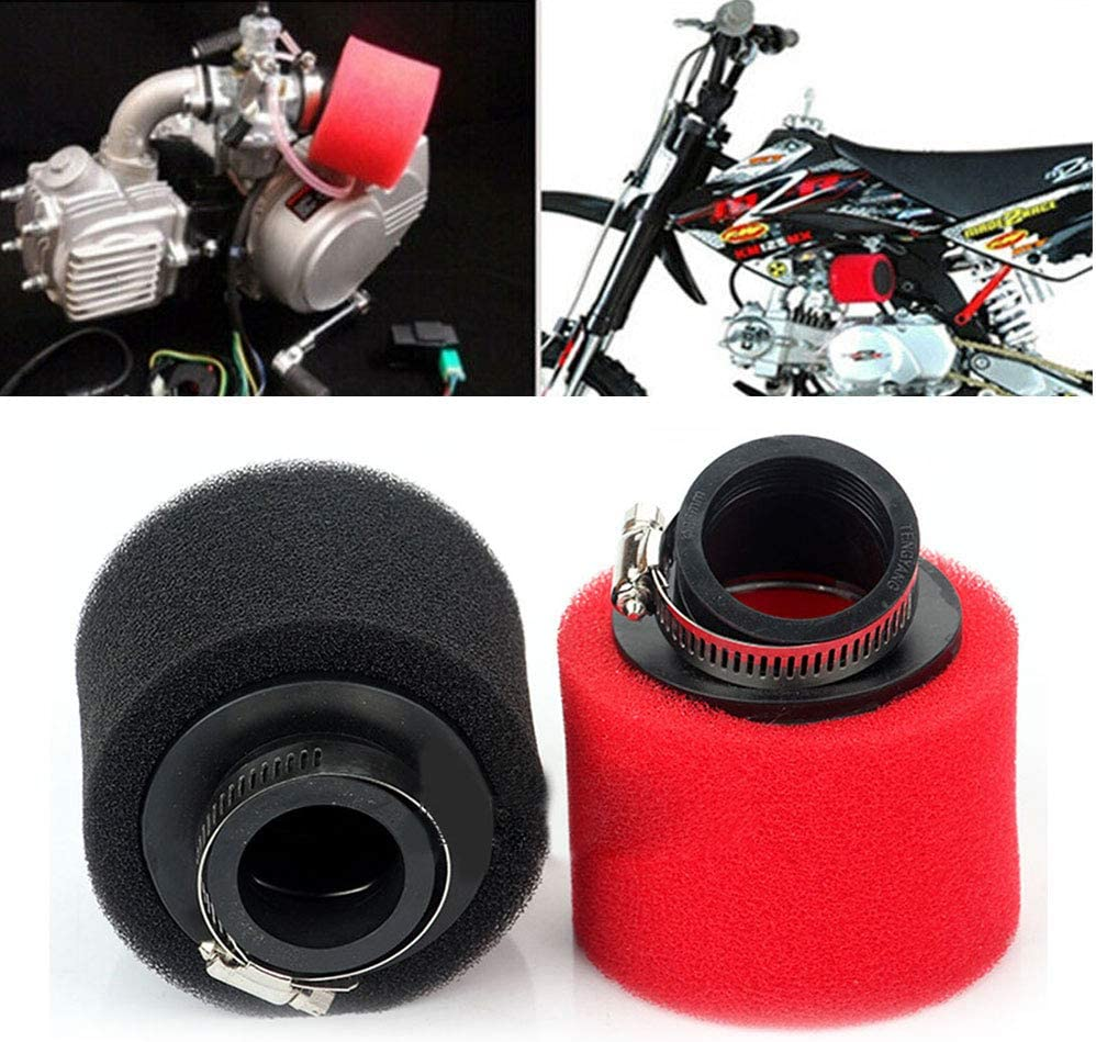 Motorcycle Sponge Air Filter Cleaner,Universal Round Cleaner Sponge Air Filter for Scooter Dirt Bike Motorcycle,Air Sponge Cleaner 35//38//42//45//48mm