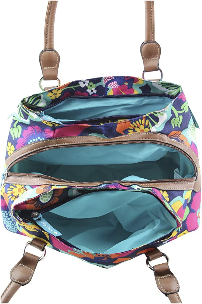 Lily Bloom Triple Section Maggie Multi-Purpose Satchel Bag