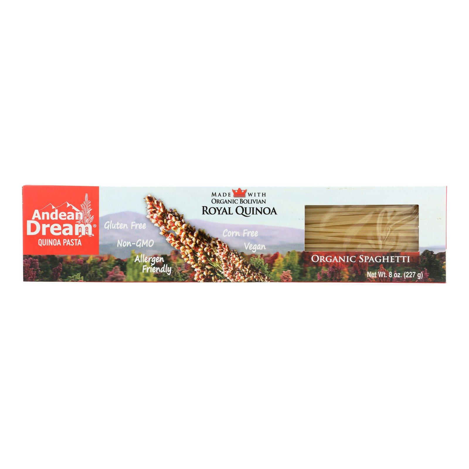 Andean Dream Gluten Free Organic Spaghetti Quinoa Pasta - Case of 12 - 8 oz. by Andean Dream