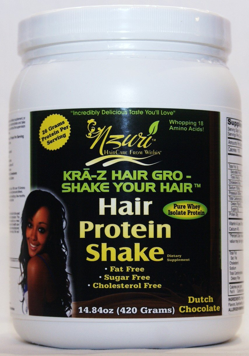 Nzuri Kra-z Hair Grow Whey Protein Shake – Chocolate