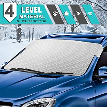 Snow Windshield Cover Protect The Windshield and Wiper from Ice,Snow Frost Windshield Snow Cover for Car Frost Guard Windshield Cover for Most Vehicles