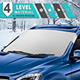 Tsumbay Car Windshield Sunshade, Car Sun Shade Auto Front Window Protector Sun Shade Visor Heat Shield Cover Foldable UV Ray Reflector for Car, Keeps Vehicle Cool, Fits Windshields of Various Sizes