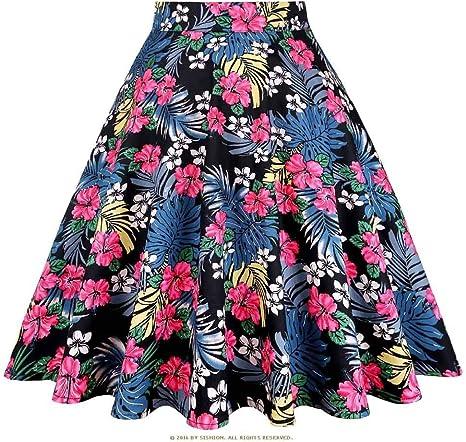 HEHEAB Falda,Las Faldas De Algodón Negro Womens Faldas Rojo Patrón Print Plus Tamaño De Verano Falda Falda Corta Tutu Jupe Femme: Amazon.es: Deportes y aire libre
