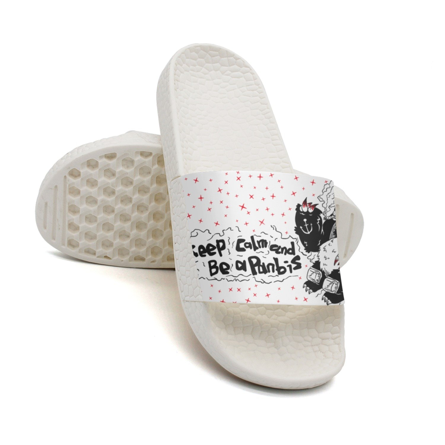 Ether Dobbin Unisex Keep-calm And Be A Panda Anti-Slip Slippers Athletic Slide Sandals