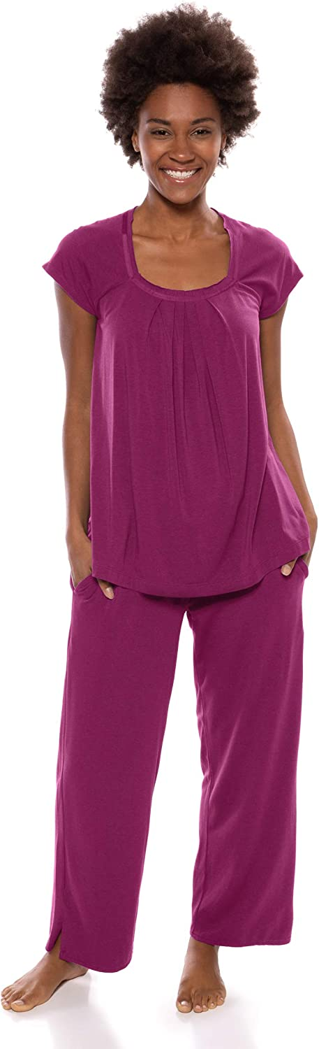Women's Pajamas in Bamboo Viscose (Bamboo Bliss) Cozy Sleepwear Set by Texere