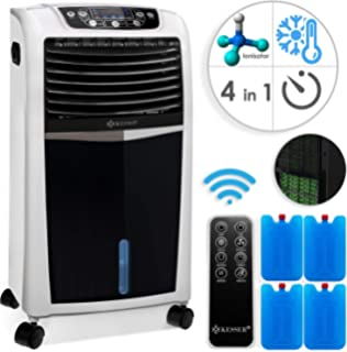 Ionisator 65 W, 320m/³//h, 4 Liter Tank, Oszillation wei/ß Ventilator oneConcept Coolster 4-in-1 Klimager/ät: Luftk/ühler Luftbefeuchter