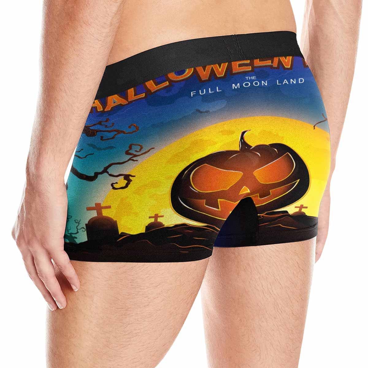 INTERESTPRINT Boxer Briefs Mens Underwear Halloween Party Full Moon Land XS-3XL