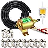 GeeBat Universal Electric Fuel Pump Kit for Carburetor Lawn Mower, 12V (3-6PSI) Electric Fuel Pump + 2 Meter/6.56-Foot 5…