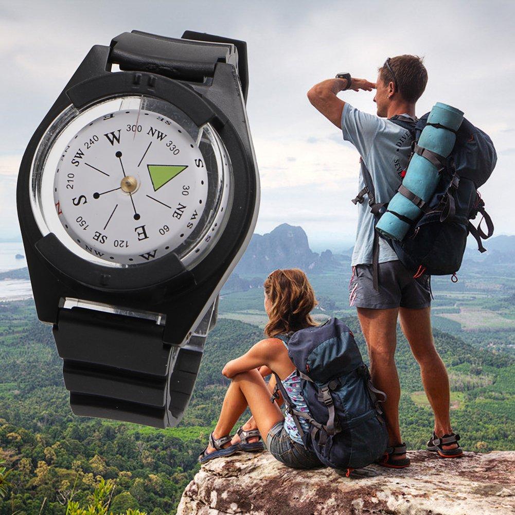 Tactical Wrist Compass腕時計ストラップバンドブレスレットMilitaryアウトドアサバイバル B01MUVOS5V