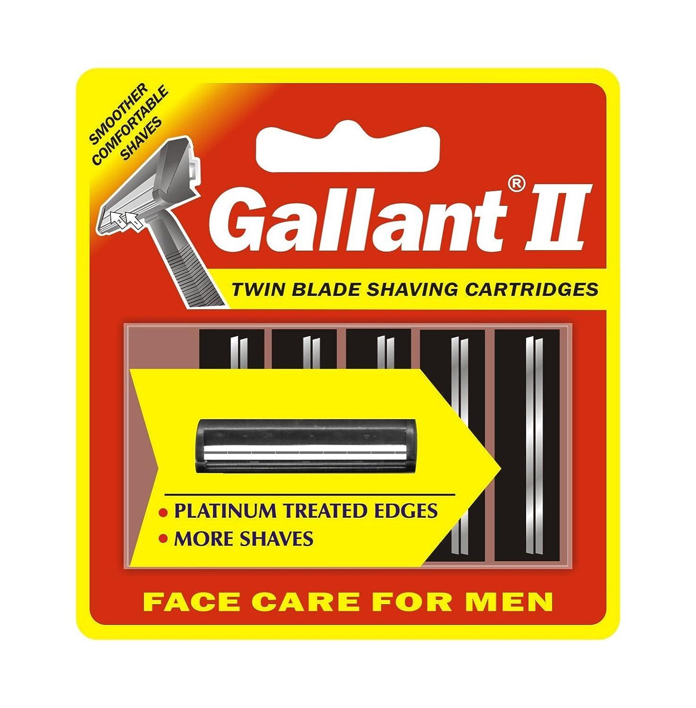 20 Gallant Blades fits Gillette Trac II Plus Razor Twin Cartridges Refills USA