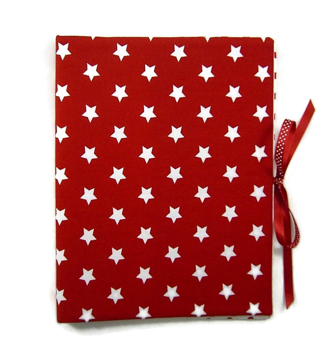 Sammelmappe DIN A4 - innen 30 Sichthüllen - - - STERNE rot-weiß - innen Punkte - bettina bruder® B01F5MKHWS | Up-to-date-styling  cbab6f