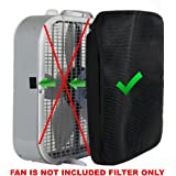 Amazon.com: Aerospeed 20-Inch 3-Speed Premium Box Fan with Energy Efficient Design and Carrying ...