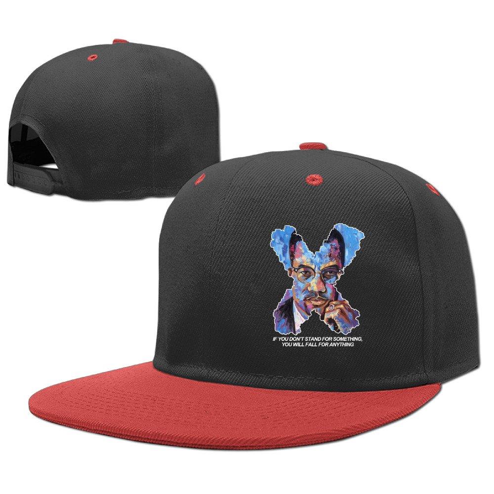 a0ab92d684d64 Malcolm X Black History Kids Brim Rock Punk Starter Snapbacks Cap   Amazon.co.uk  Clothing