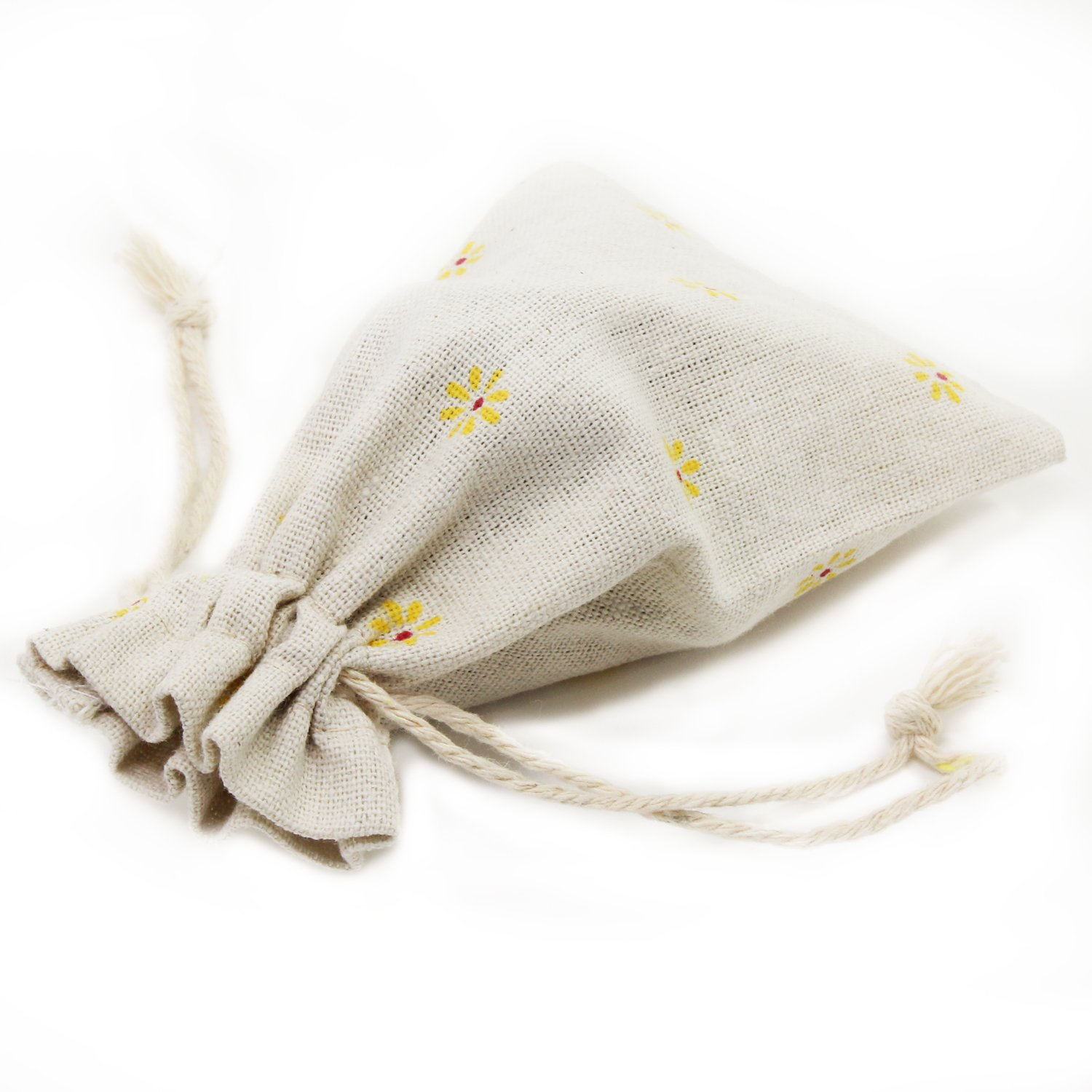 PsmGoods Linen Bags Hessian Drawstring Bags Gift Bags Jewelry Favors Bags Burlap Lavender Sachet Drawstring Pouch Flax Cotton Jewelry Pouch Bag Wedding Decorations Favor Gift Wrap 10*14cm 20 Pieces
