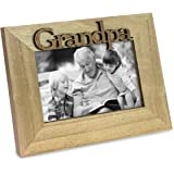 """Isaac Jacobs Natural Wood Sentiments """"Grandpa"""" Picture Frame, 4x6 inch"""