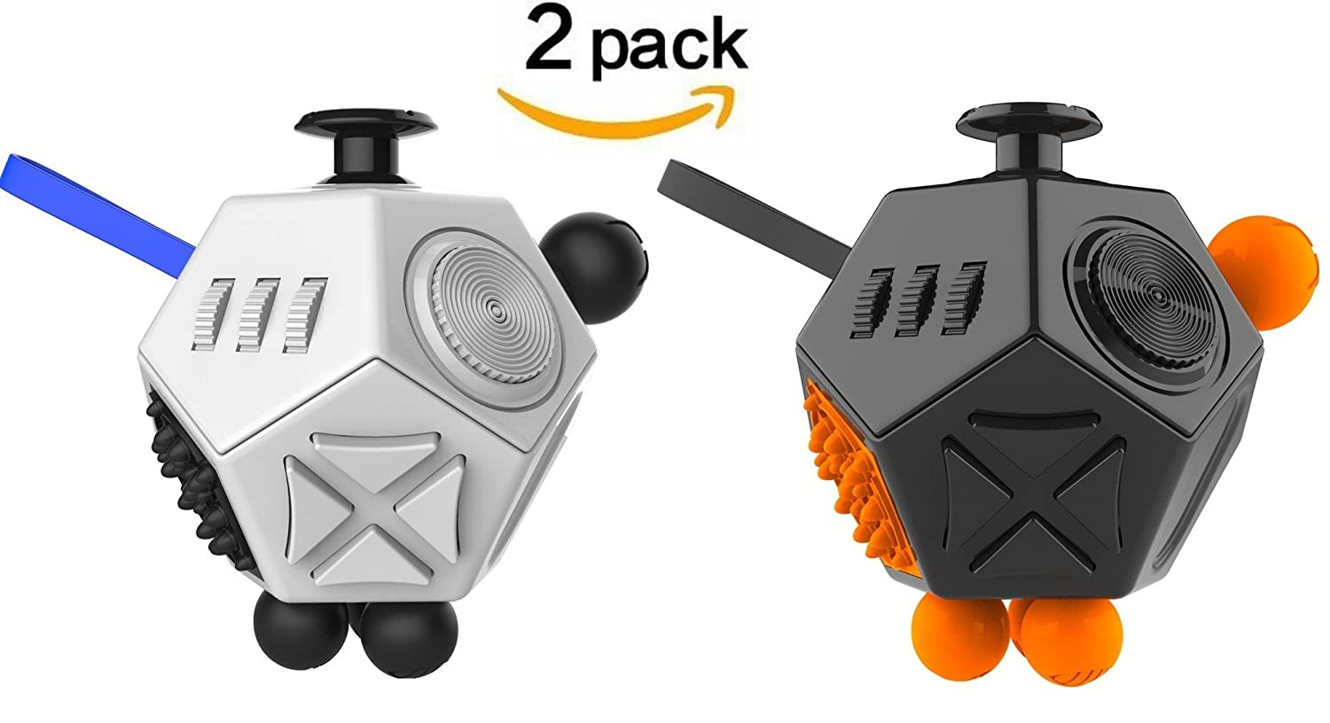 Fidget Dodecagon Cube, Cubier Advanced 12 Sided Prime Anti-Anxiety Dice Toy EDC ADD ADHD for Adult & Children