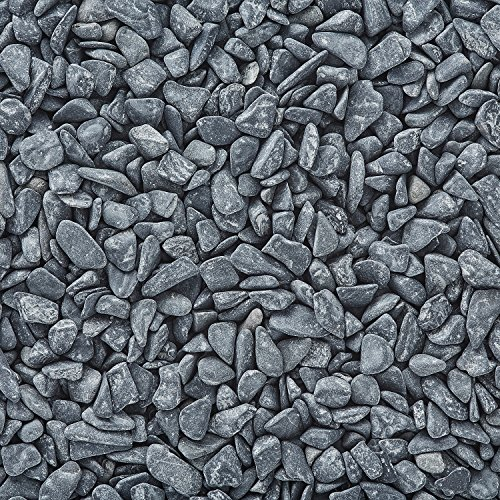(Border Concepts 1 Pound Bag of Rocks for Mini Gardens (Black Bean))