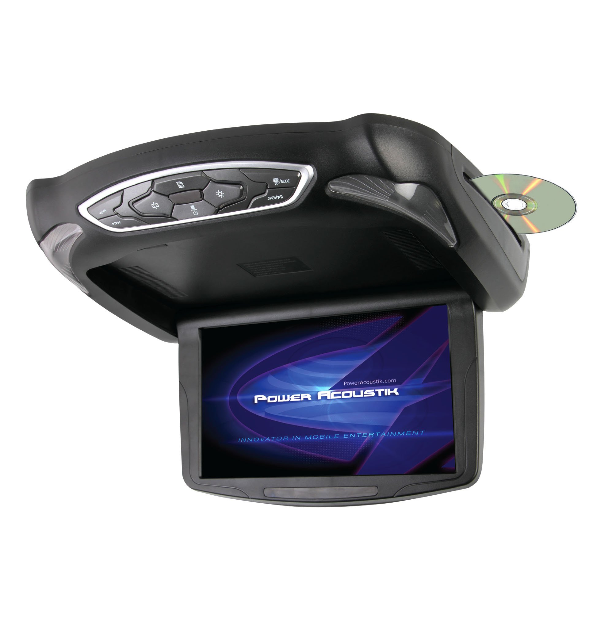 """Power Acoustik PMD-103X 10.1"""" Wide Ceiling Mount Monitor with built-in DVD, USB/SD & MHL"""