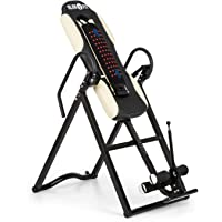 Klarfit Ease Delux • Table d'inversion • Banc d'inversion Max 136kg • Revêtement pour Massage Dorsal avec Fonction chauffante